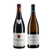 【套装12瓶】雷卡父子酒庄(香波-慕西尼村)红6瓶·格鲁酒庄(默尔索村)白6瓶 勃艮第葡萄酒套装