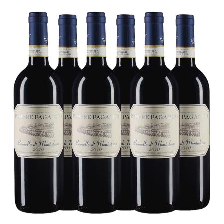 【六支套装】2010年帕加尼科酒庄布鲁奈罗红葡萄酒