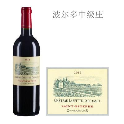 2012年拉菲特卡尔斯特古堡红葡萄酒