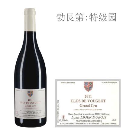 2011年杜布瓦酒庄(伏旧特级园)红葡萄酒
