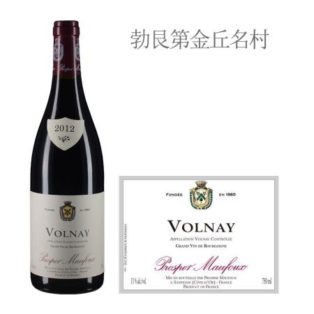 2012年葩美酒庄(沃尔奈村)红葡萄酒