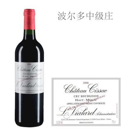 2008年斯萨克城堡红葡萄酒