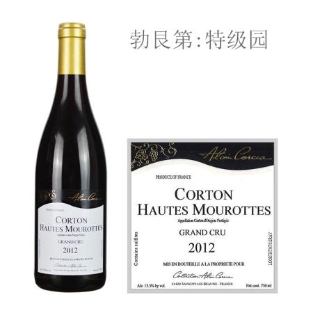 2012年科奇亚酒庄上莫洛(科尔登特级园)红葡萄酒