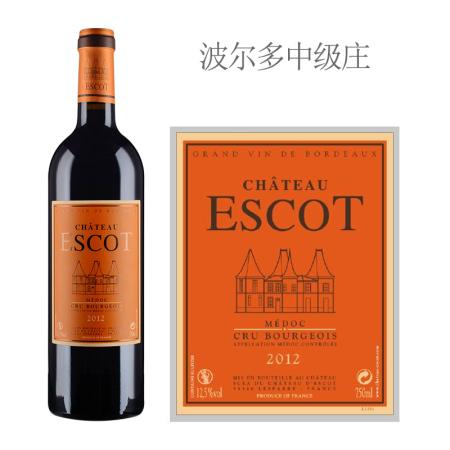 2012年艾斯科酒庄红葡萄酒