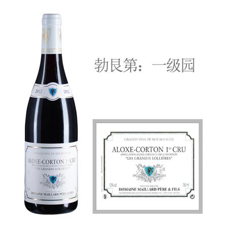 2012年美亚父子酒庄洛雅(阿罗克斯-科尔登一级园)红葡萄酒