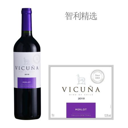 2018年干露羊驼梅洛红葡萄酒