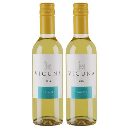 干露羊驼莫斯卡托甜白葡萄酒375ml双支(小瓶装)