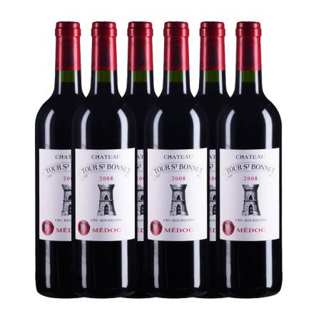【六支套装】2008年圣塔堡酒庄红葡萄酒