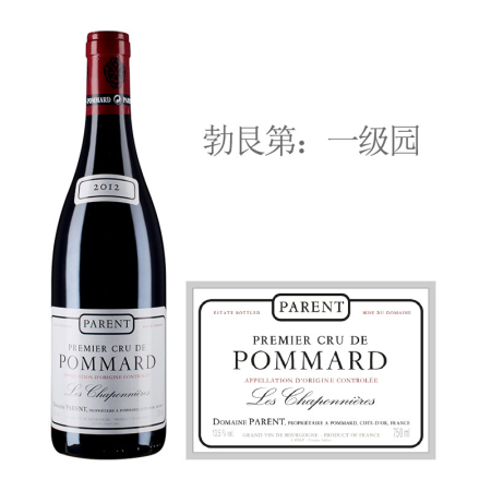 2012年巴赫酒庄香波尼(玻玛一级园)红葡萄酒
