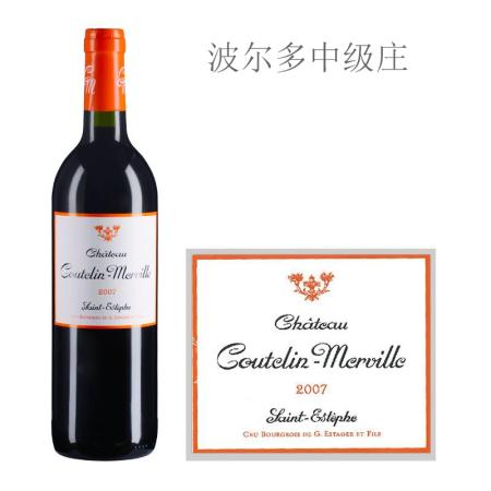 2007年谷特兰美威酒庄红葡萄酒