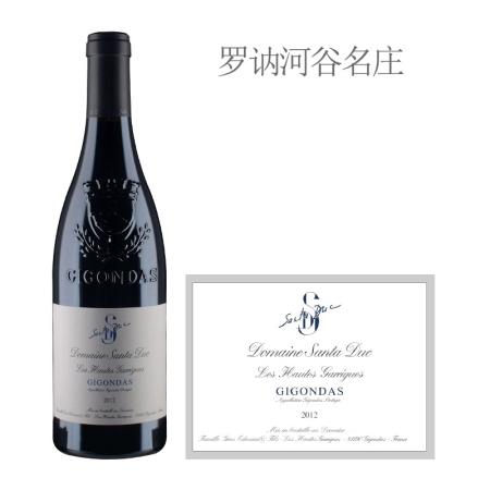 2012年圣杜卡酒庄上嘉瑞红葡萄酒