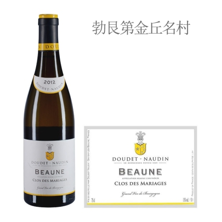 2012年诺丁酒庄玛利亚歌(伯恩村)白葡萄酒