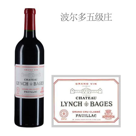 2012年靓茨伯庄园红葡萄酒