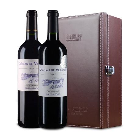【品月套装】法国中级名庄 2008年维扬比+2010年维扬比红葡萄酒