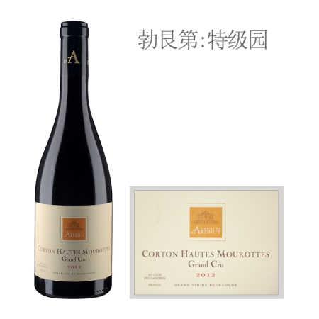 2012年达哈瑞酒庄上莫洛(科尔登特级园)红葡萄酒
