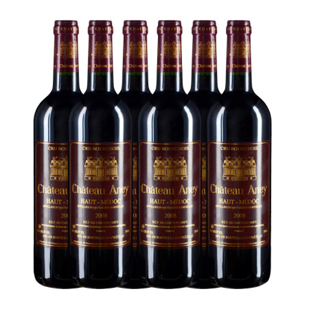 【整箱6支】2008年雅蕾堡红葡萄酒