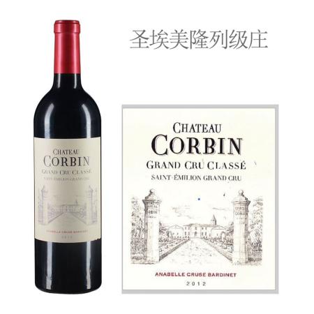 2012年科宾酒庄红葡萄酒