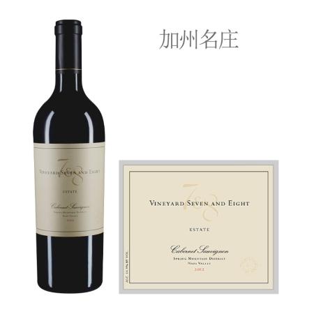 2012年7&8酒庄赤霞珠红葡萄酒