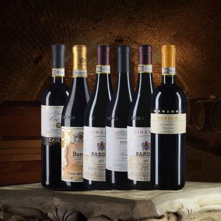 酒中之王巴罗洛六支套装(2007年份对比品鉴)