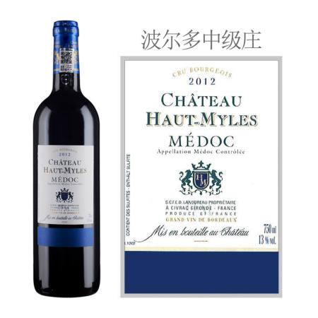 2012年上米勒酒庄红葡萄酒