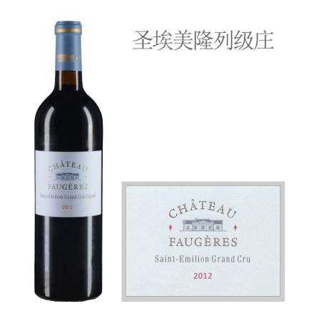 2012年富爵酒庄红葡萄酒